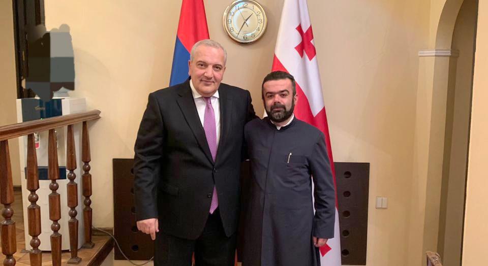 Местоблюститель Главы Епархии ААЦ в Грузии посетил посольство Республики Армения в Грузии