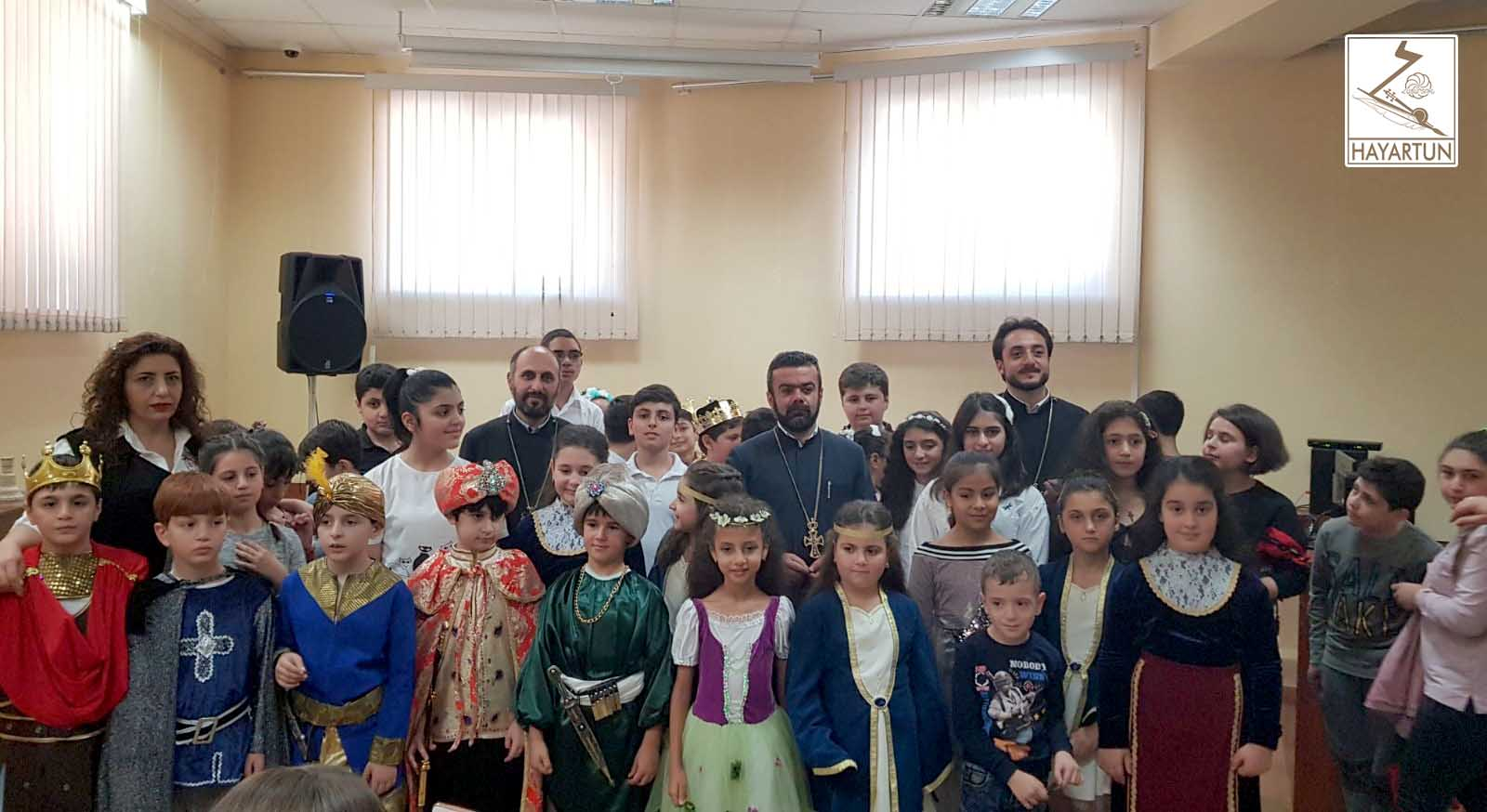 Literary and theatrical event dedicated to the Feast of the Holy Translators presented by Armenian pupils in Tbilisi