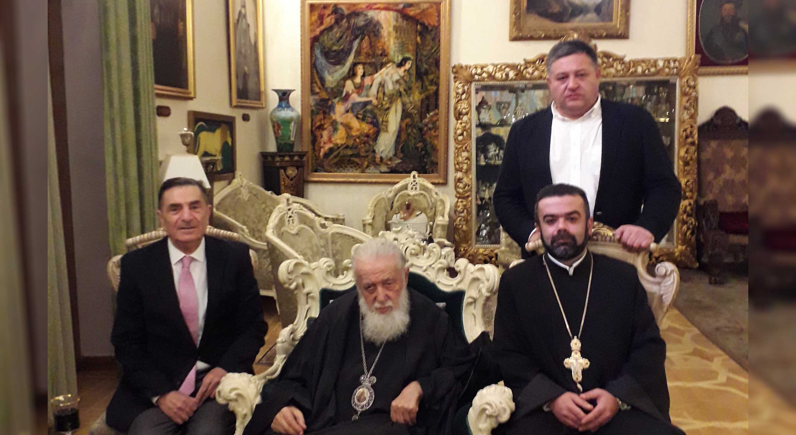 His Holiness and Beatitude Illia II received the Vicar of the Armenian Diocese in Georgia