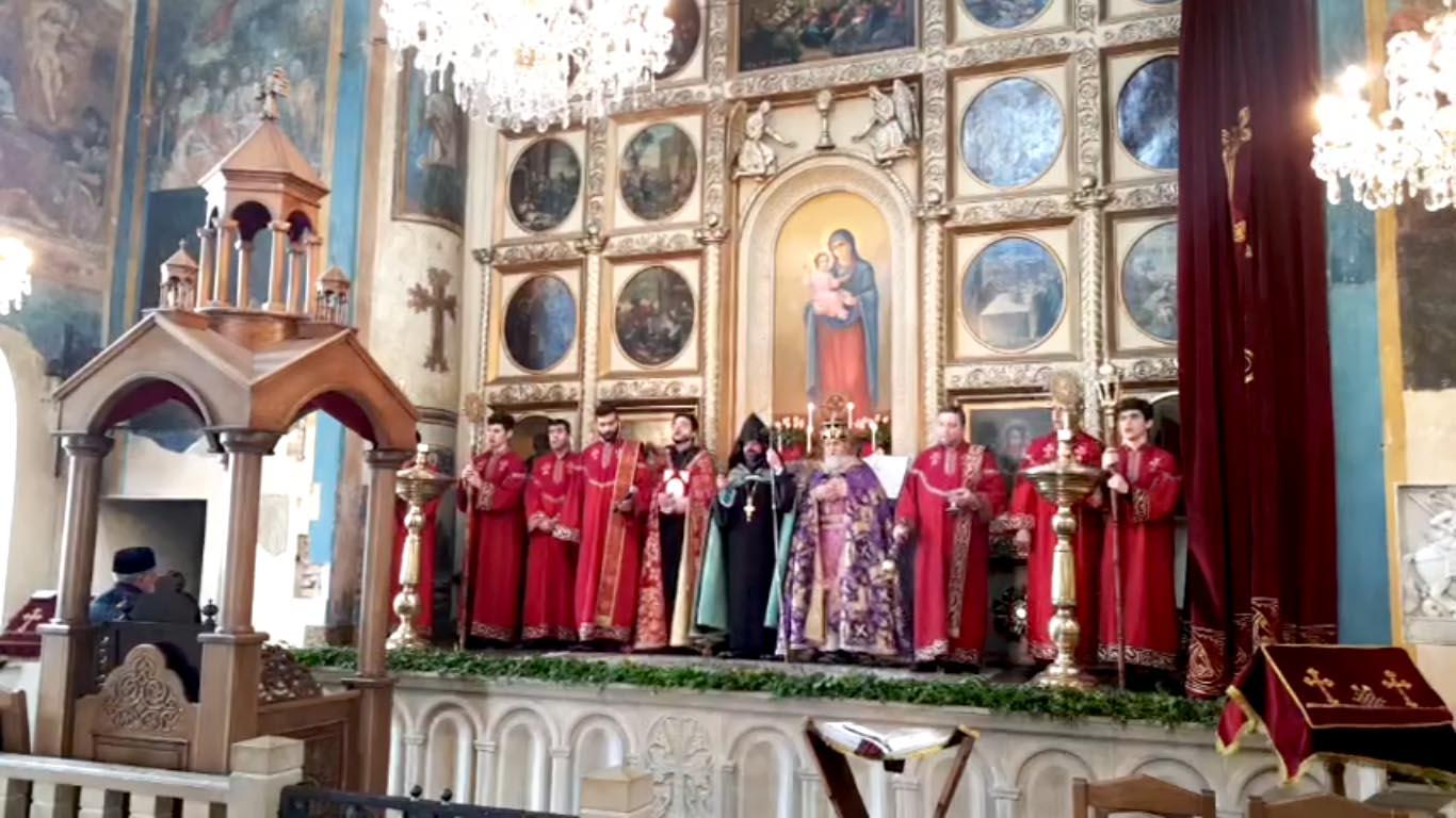 Ծաղկազարդի տոնի Սբ. Պատարագը Վիրահայոց թեմի եկեղեցիներում