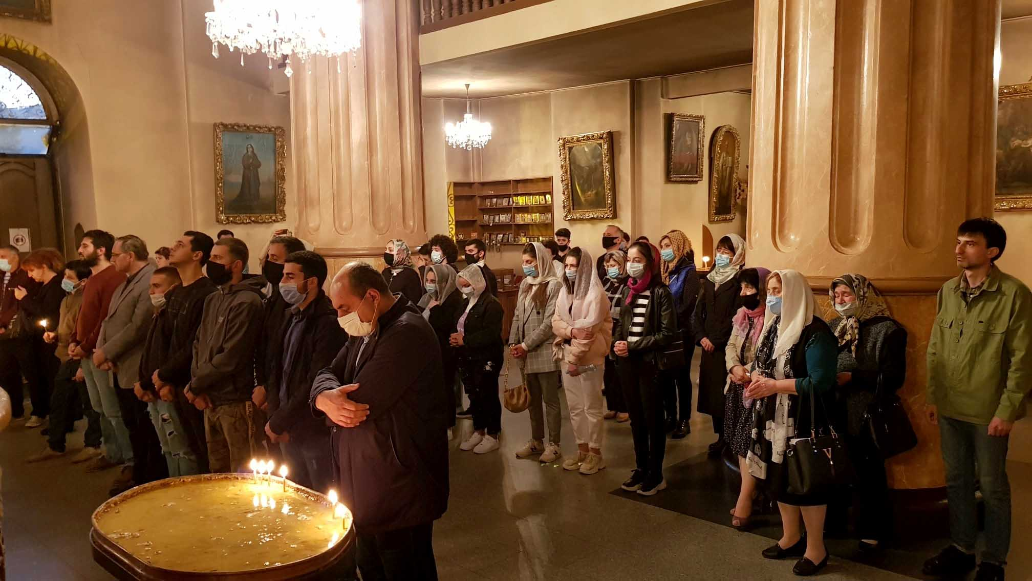 Prayer of Support in Saint Etchmiadzin church in Tbilisi
