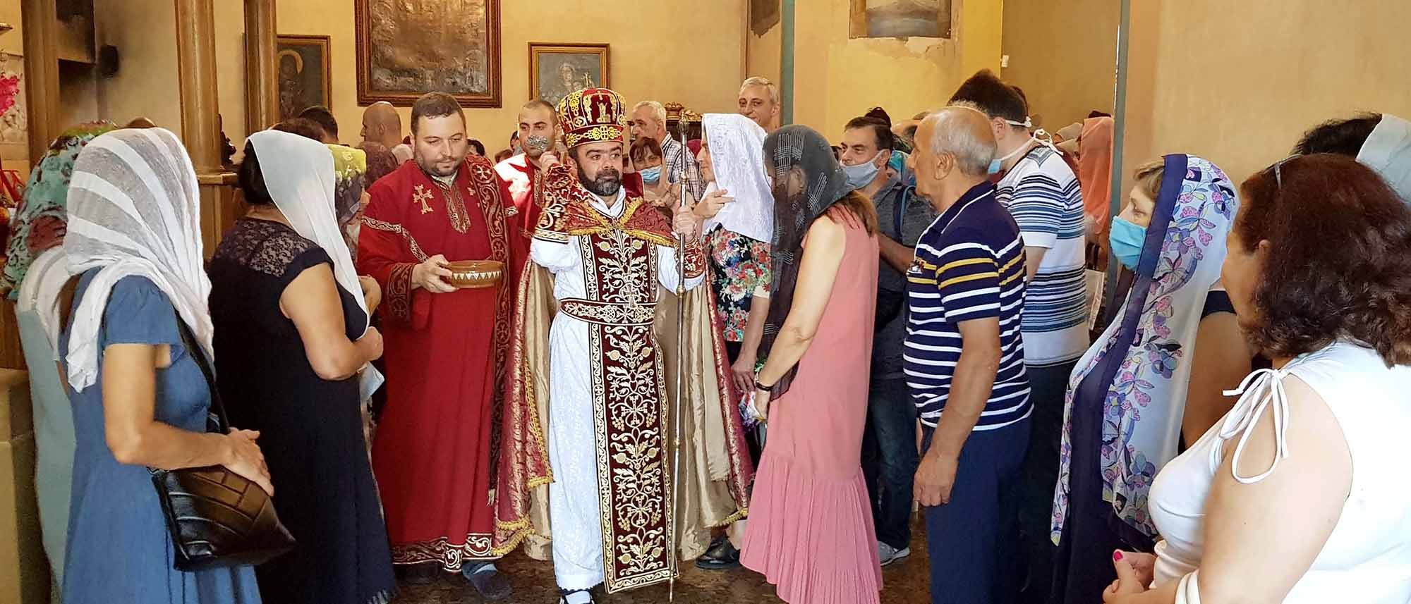 The Feast of Transfiguration of Our Lord Jesus Christ celebrated at the Armenian Diocese in Georgia