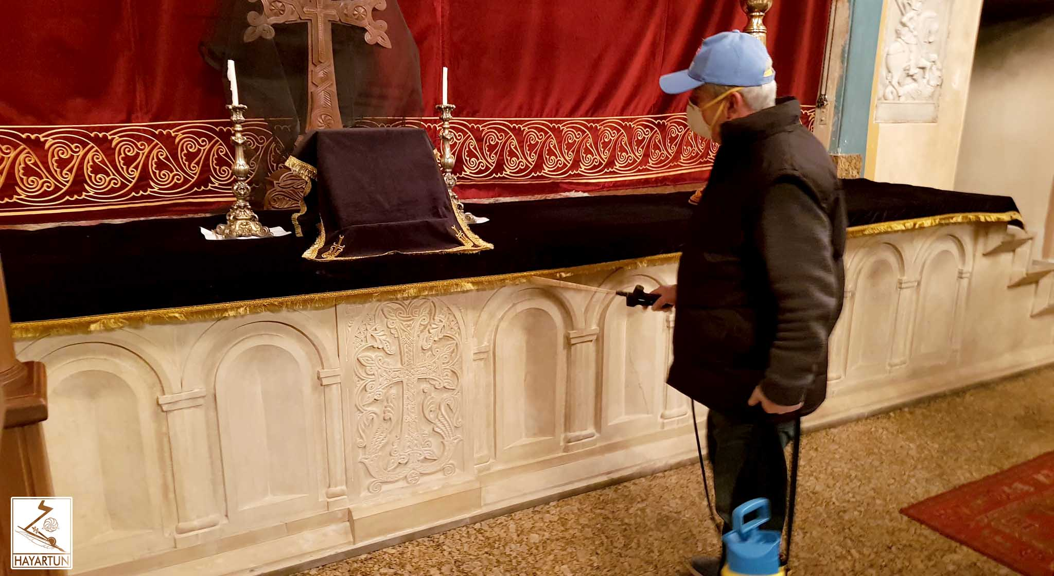 Armenian churches in Tbilisi were disinfected
