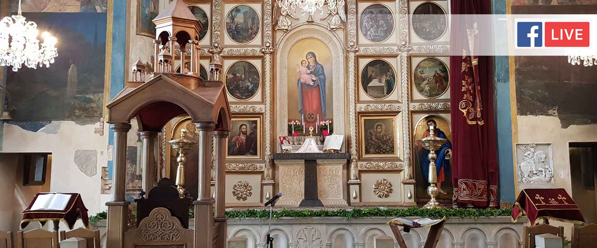 Ծաղկազարդի տոնի Սբ. Պատարագը Թբիլիսիի Սբ Գևորգ եկեղեցում