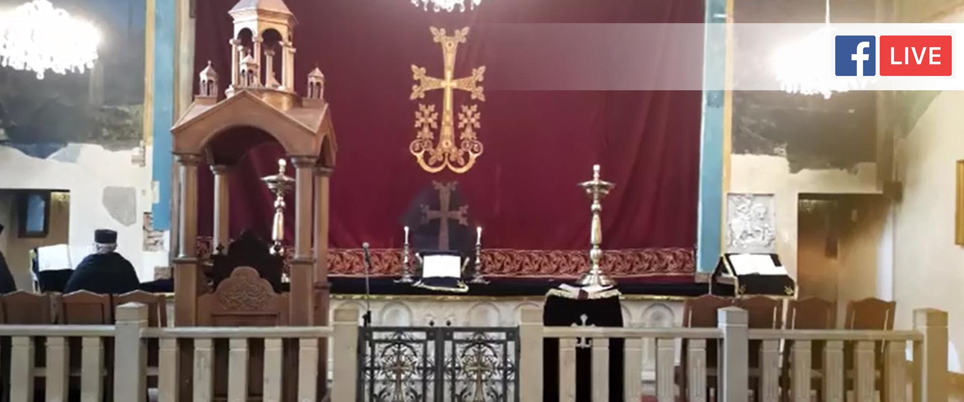 Սուրբ և անմահ պատարագ Թբիլիսիի Սբ.Գևորգ եկեղեցում Գալստյան կիրակի