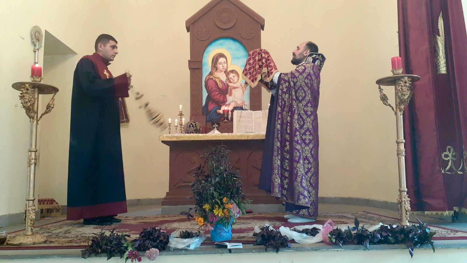 Праздник Прославления Креста в Шаумяне