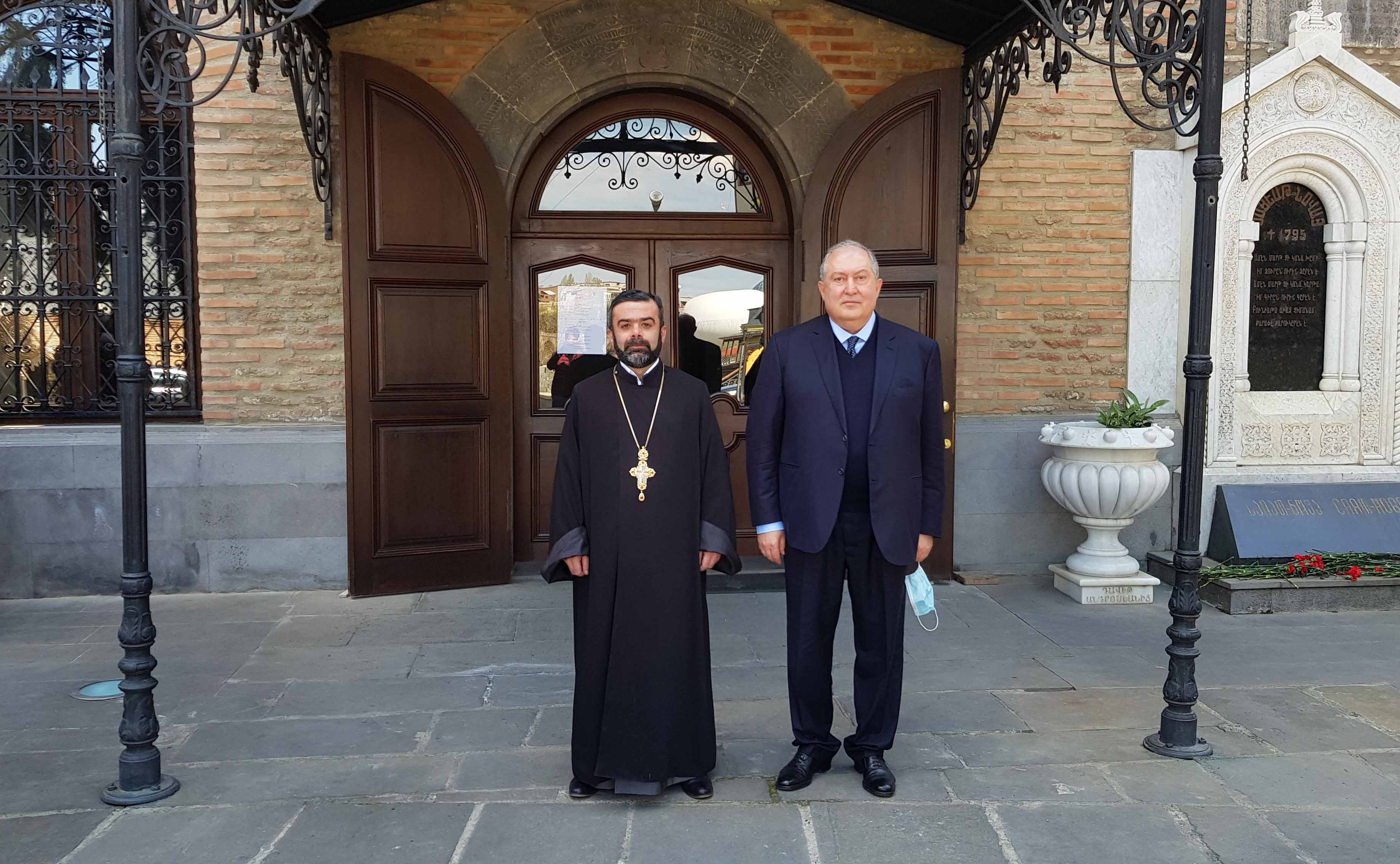 RA President Armen Sargsyan visited Cathedral of Saint George