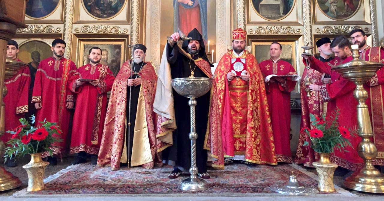 Divine Liturgy on the occasion of Holy Nativity and Theophany of Our Lord Jesus Christ at the Armenian Diocese in Georgia